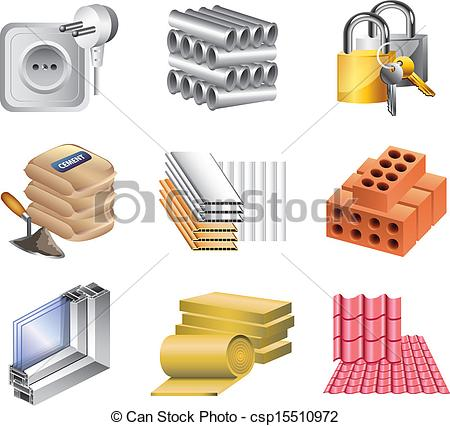 Building Materials And    Csp15510972   Search Clipart Illustration