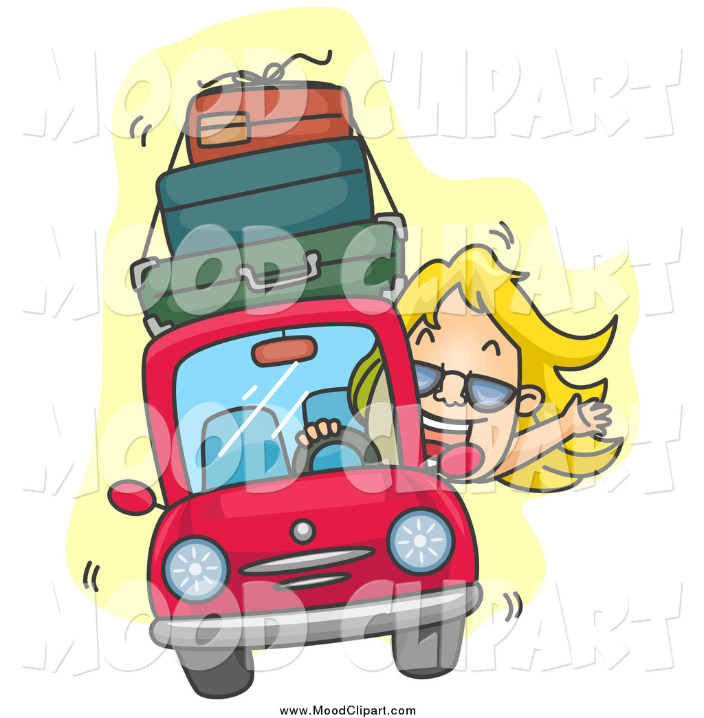 Car With Luggage Clipart A Car With Luggage On Top