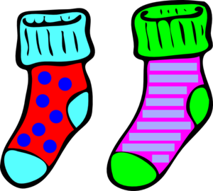 Socks Clip Art Colored