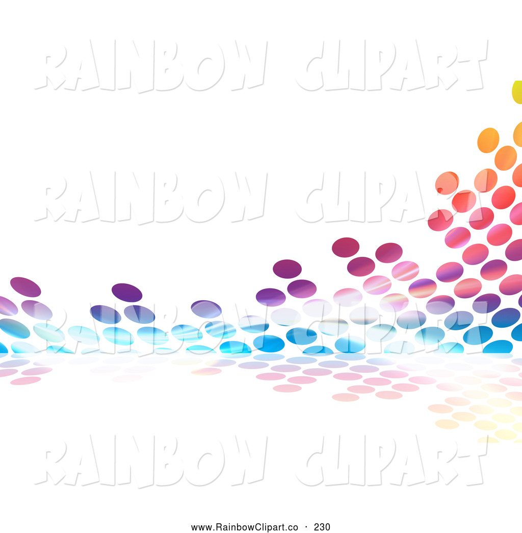 Colorful Halftone Dot Equalizer Background On White By Arena Creative