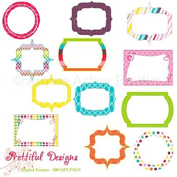 Digital Frames   Rainbow    Collections    Clipart And Graphics