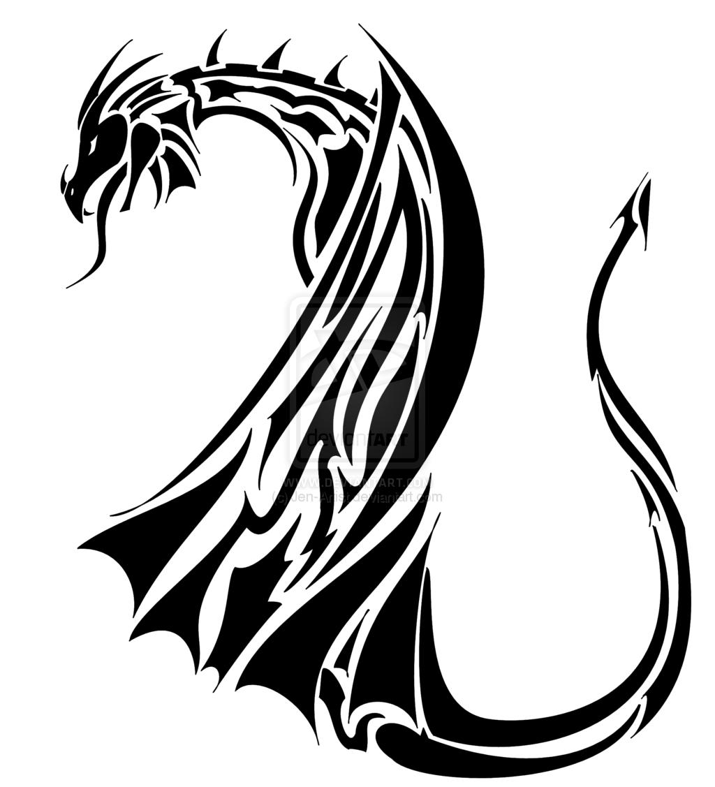 Tribal design dragon tattoo Dragon Tattoo