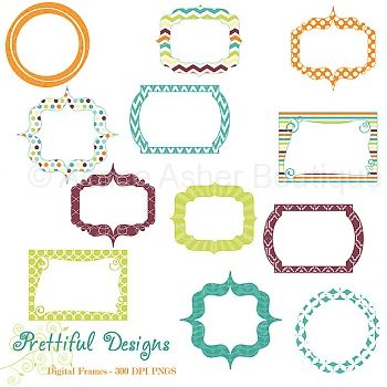 East Digital Frames    Elements    Clipart And Graphics    Aimee Asher