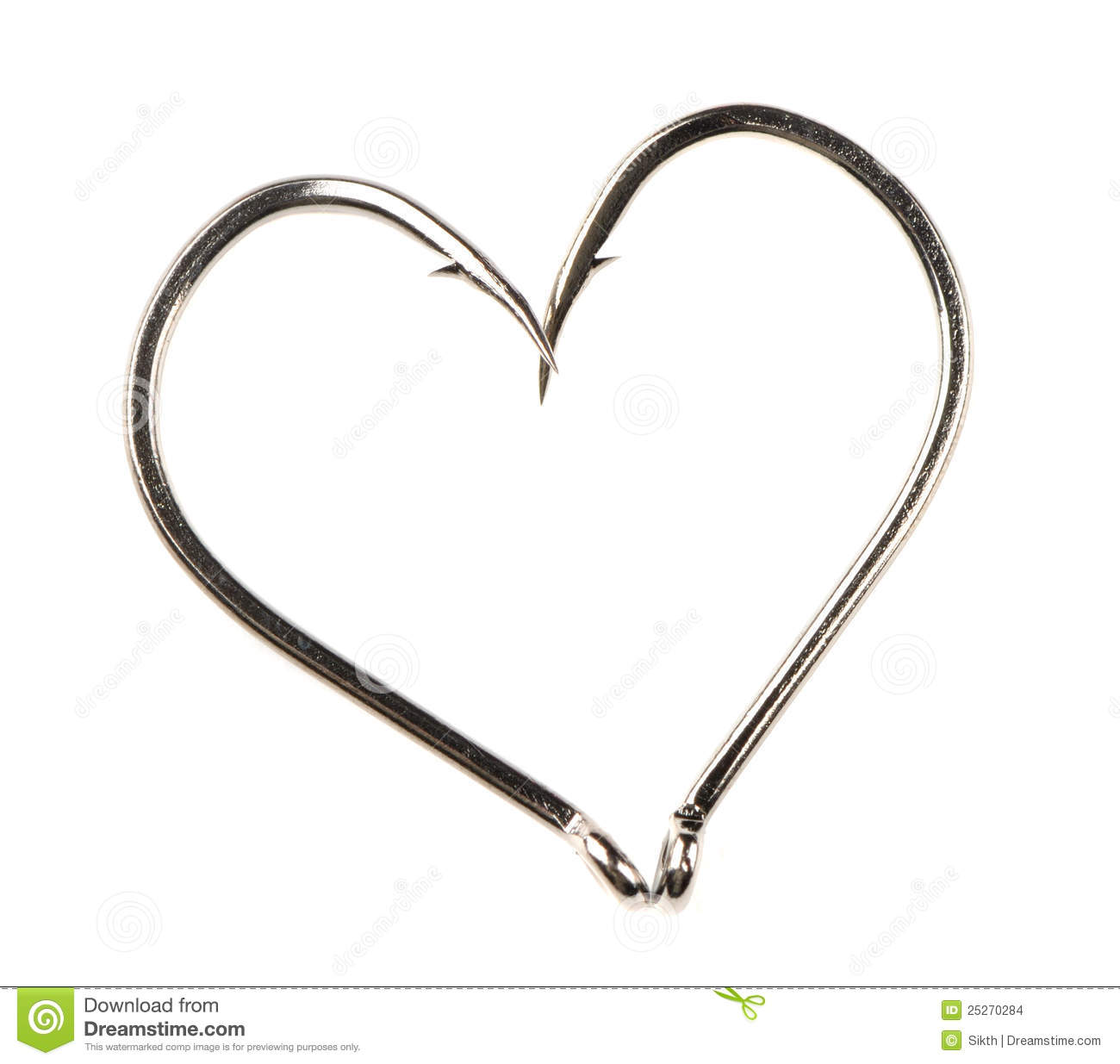 heart fish hook clipart clipart suggest
