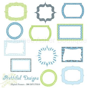 Jack Frames    Paper Packs    Clipart And Graphics    Aimee Asher