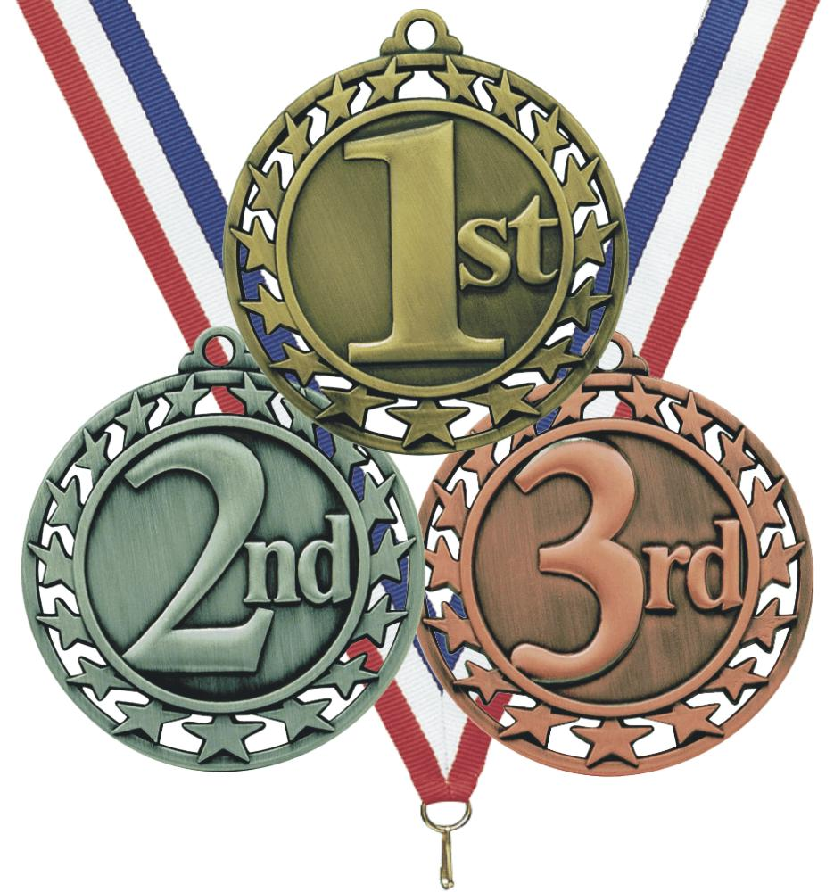 Medal Colors Are 1st Place Gold 2nd Place Silver And 3rd Place Bronze
