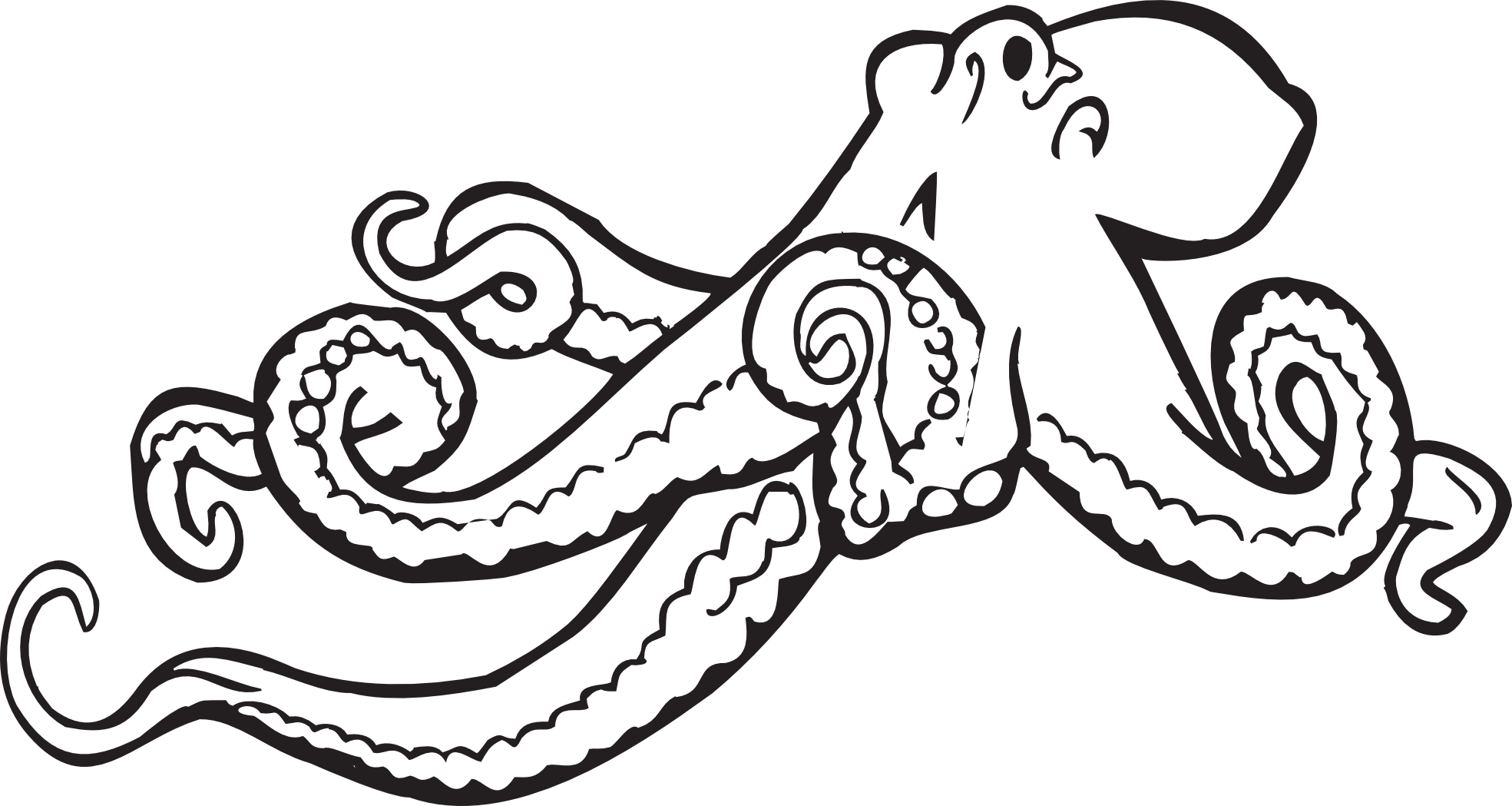 Octopus Clip Art Black And White   Clipart Panda   Free Clipart Images