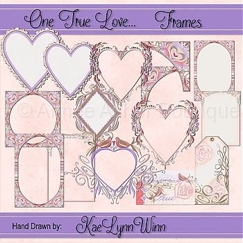 One True Love   Frames    Elements    Clipart And Graphics    Aimee