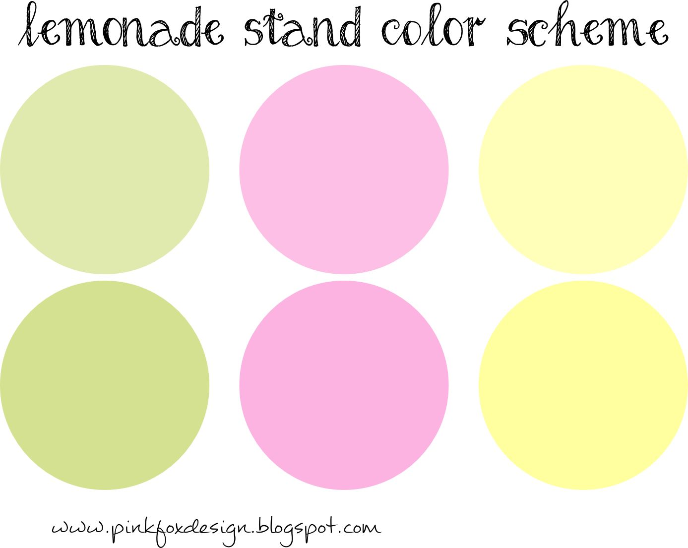Pink Fox Design  New  Lemonade Stand Clip Art Digital Papers And