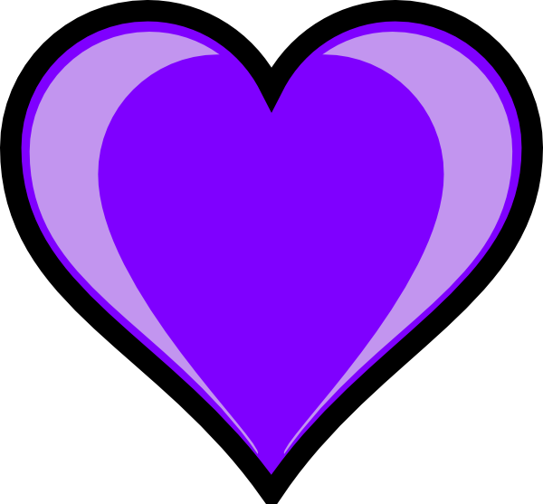 Purple Heart Clip Art At Clker Com   Vector Clip Art Online Royalty