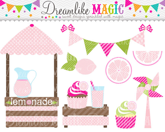 Sweet Pink Lemonade  Clipart For Personal Or Commercial Use By