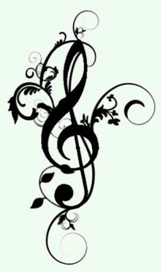 Tattoos On Pinterest   Clip Art Free Music Notes And Music