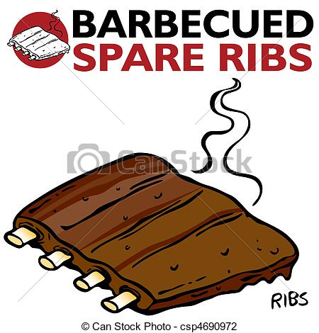 Bbq Ribs Clipart Black And White   Clipart Panda   Free Clipart Images
