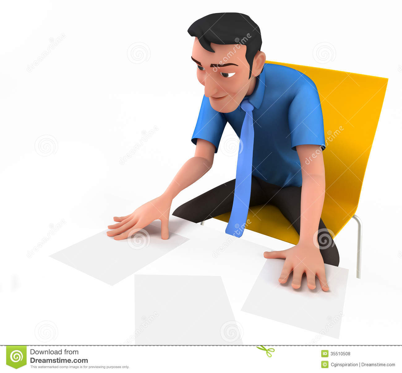 Business Report Clipart Businessman Review Reports