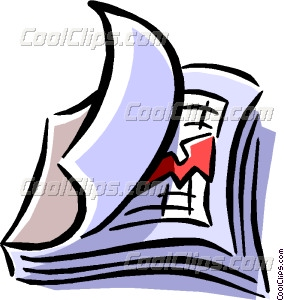 Business Report Vector Clip Art