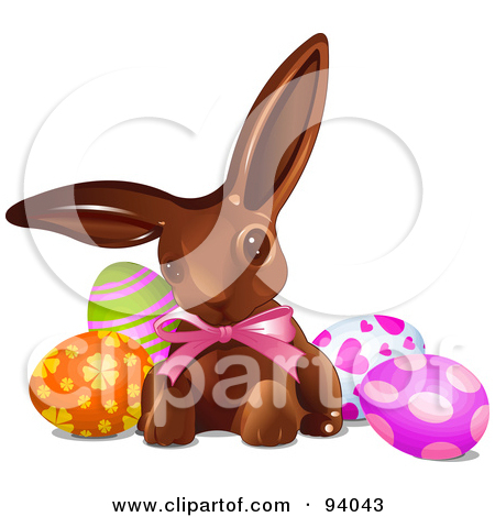 Chocolate Bunny With Easter Egg Candy