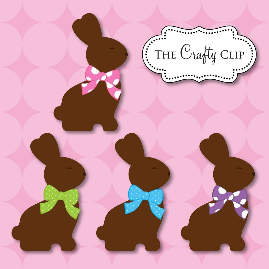 Chocolate Easter Bunny Clipart Chocolate Easter Bunnies By