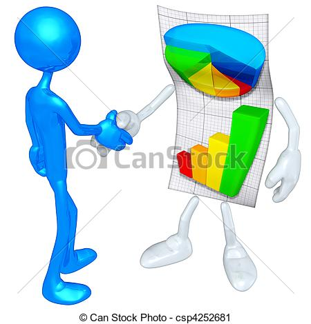 Clipart Of Business Report Concept   A Business Report Concept And