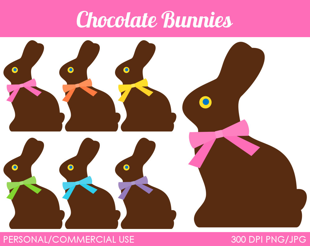 Easter Chocolate Bunny Clipart Chocolate Bunnies Clipart