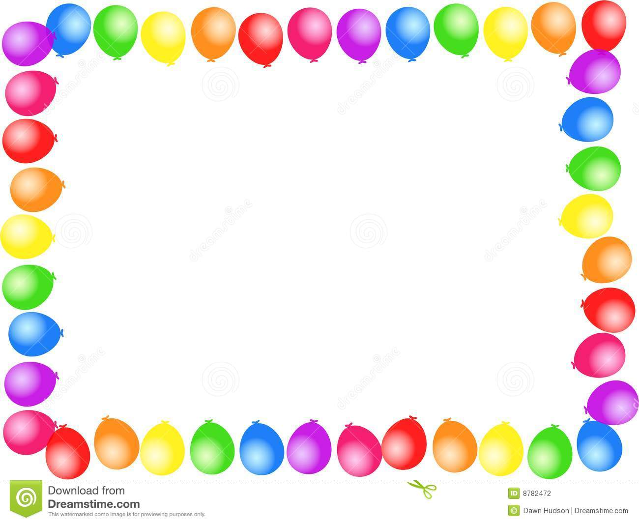 Halloween Party Borders Balloon Border 8782472 Jpg