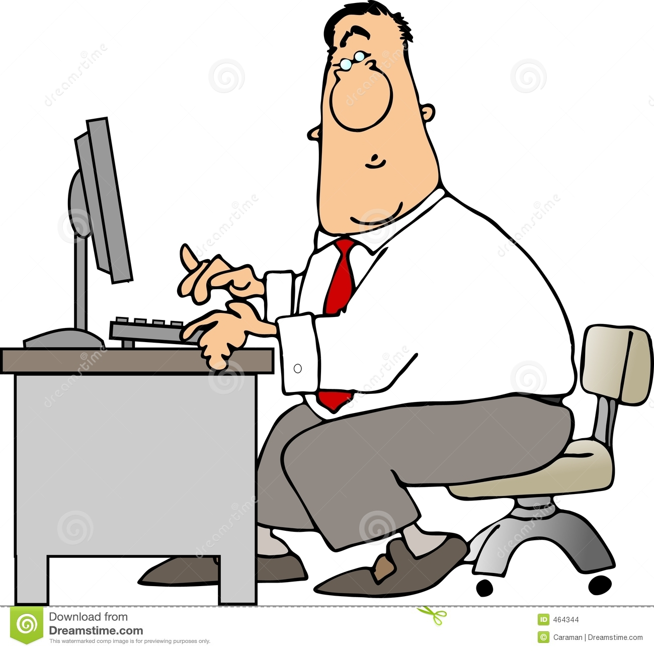 Man At Desk Clipart Clipart Suggest