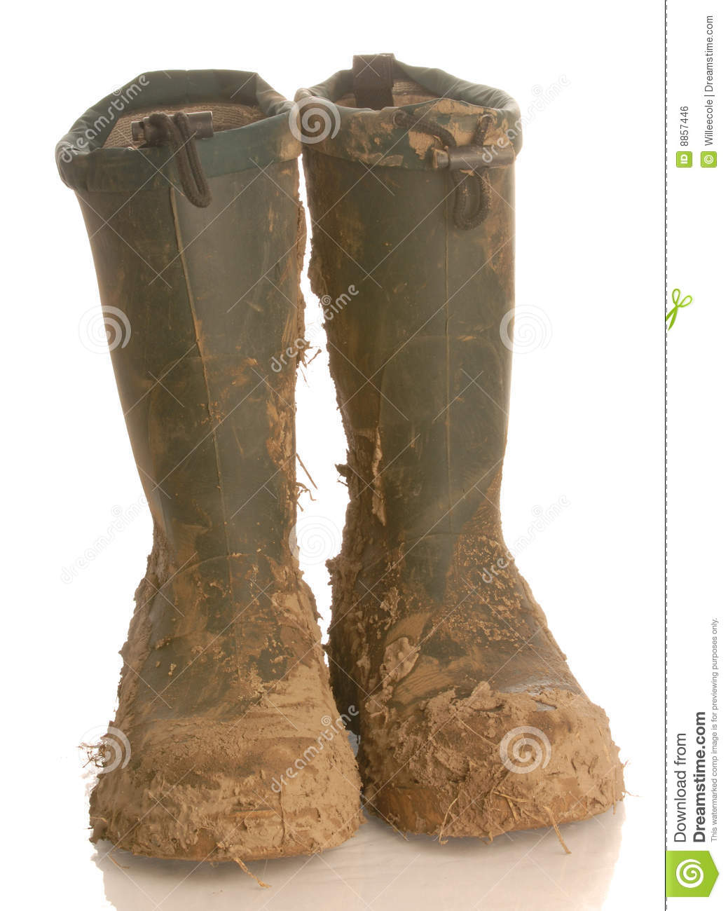 Muddy Rubber Boots Royalty Free Stock Image   Image  8857446