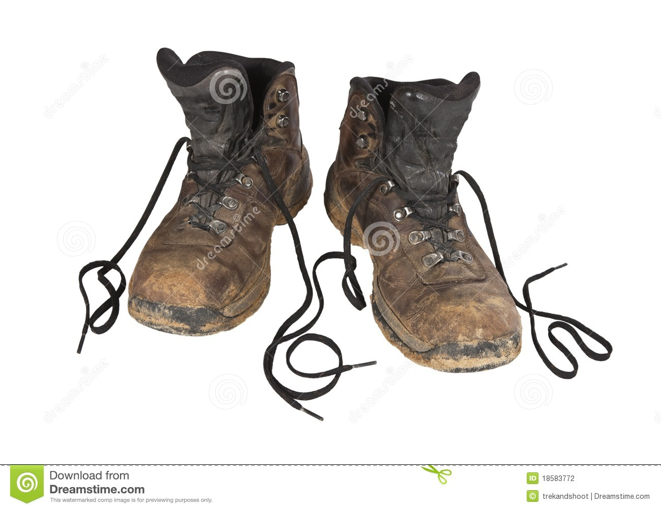 Pair Of Hiking Boots Clipart Muddy Hiking Boots