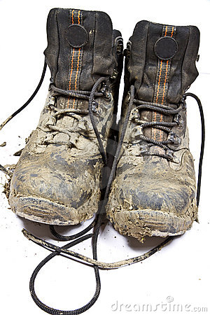 Pair Of Hiking Boots Clipart Pair Muddy Walking Boots