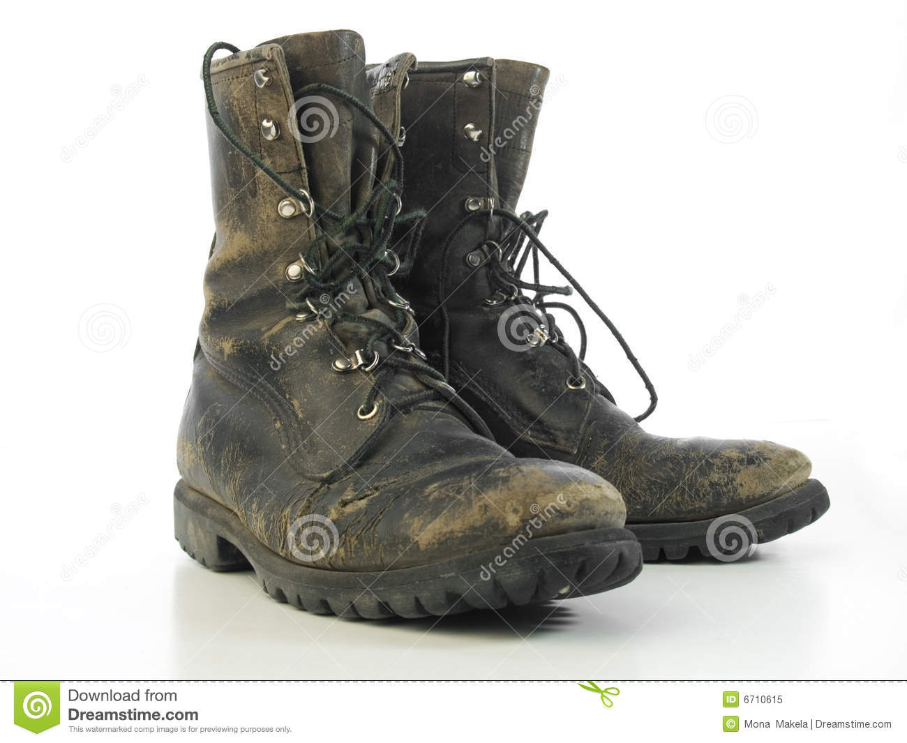 Pair Of Muddy Combat Boots Royalty Free Stock Photo   Image  6710615