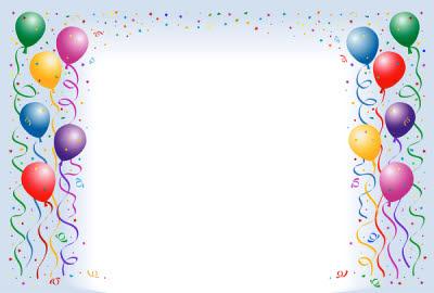 Birthday Balloon Border Clipart - Clipart Kid