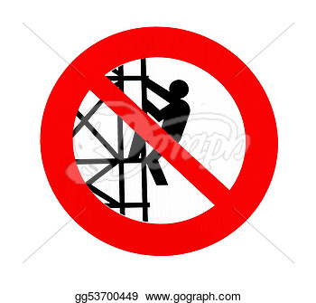 Stock Illustration   No Climbing Sign   Forbiddance Symbol Over White
