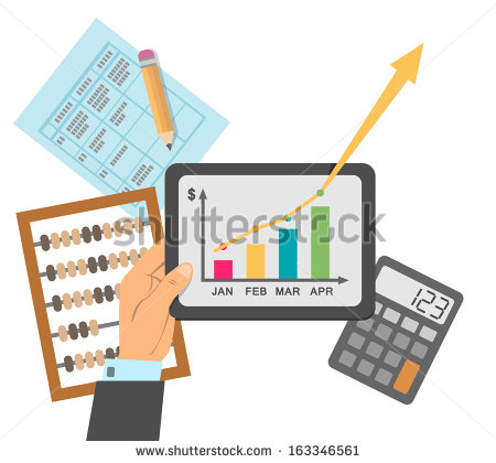 Successful Financial Business Plan Report Concept Vector Illustration