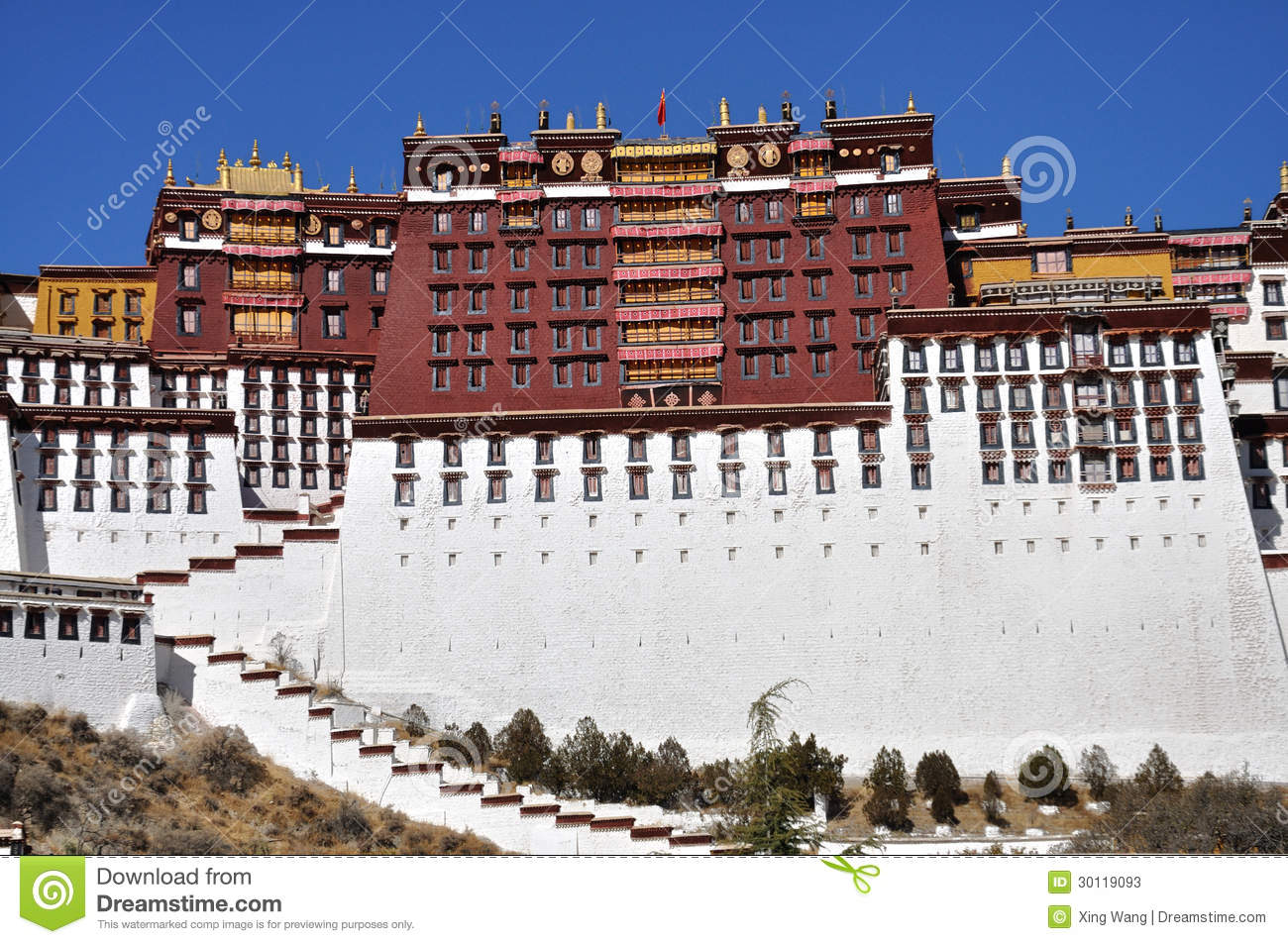 The Potala Palace Is Located In Lhasa Tibet Autonomous Region China