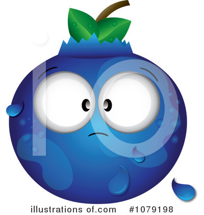 Blueberry Clipart Illustration
