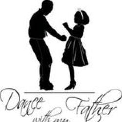Silhouette Of Father And Daughter Dancing Together Holding ... |Father Daughter Dance Drawings