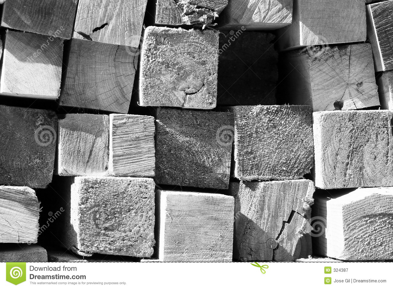Pile Of Lumber From The Cross Section  Building Material At A