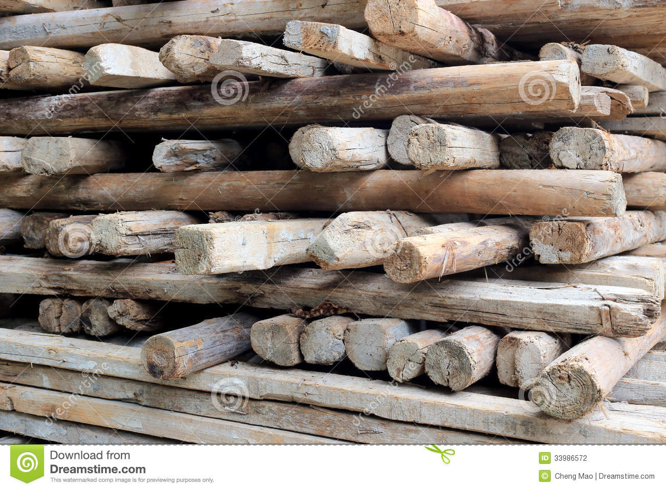 Pile Of Old And Dirty Lumber Stock Photography   Image  33986572