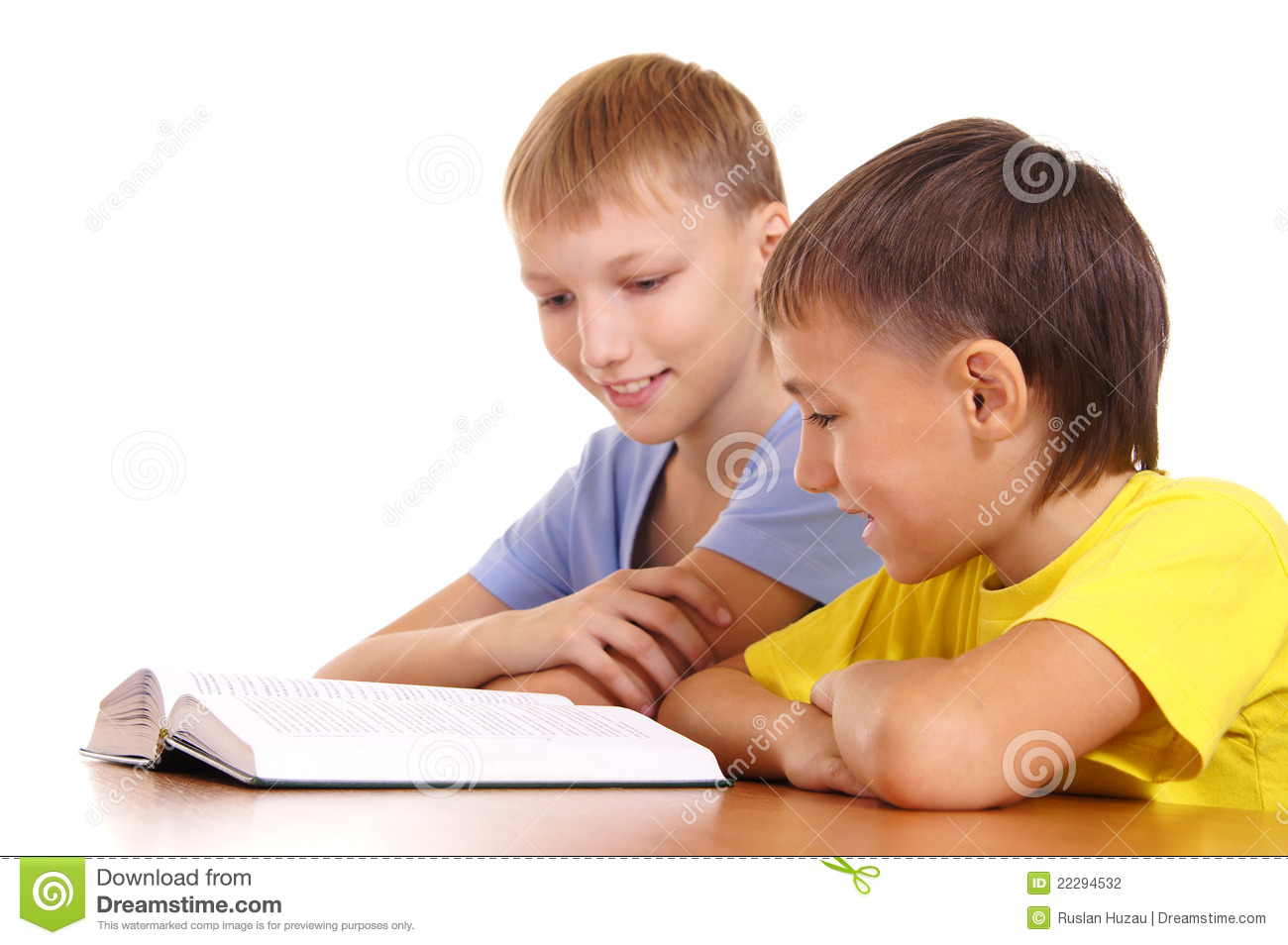 Two Boys Reading Stock Photography   Image  22294532