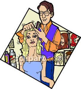 Woman In A Hair Salon   Royalty Free Clipart Picture