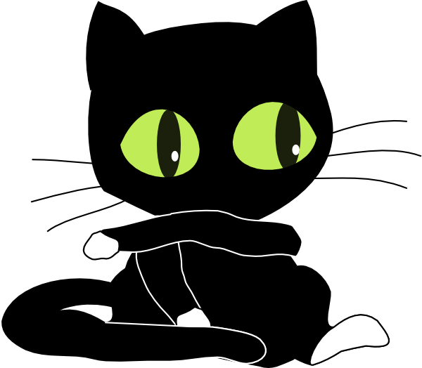 Black And White Cat Clipart Clipart Suggest