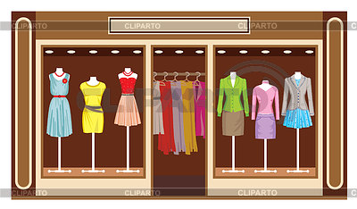 Boutique  Women S Clothing Shop   Stock Vector Graphics   Cliparto