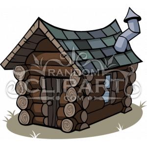 Cartoon Log Cabin Clip Art #LkSBH6 - Clipart Kid