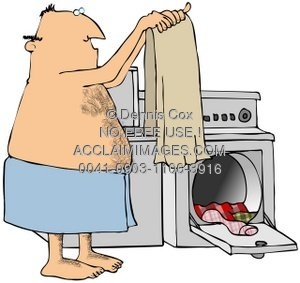 Clipart Illustration  Man Doing Laundry