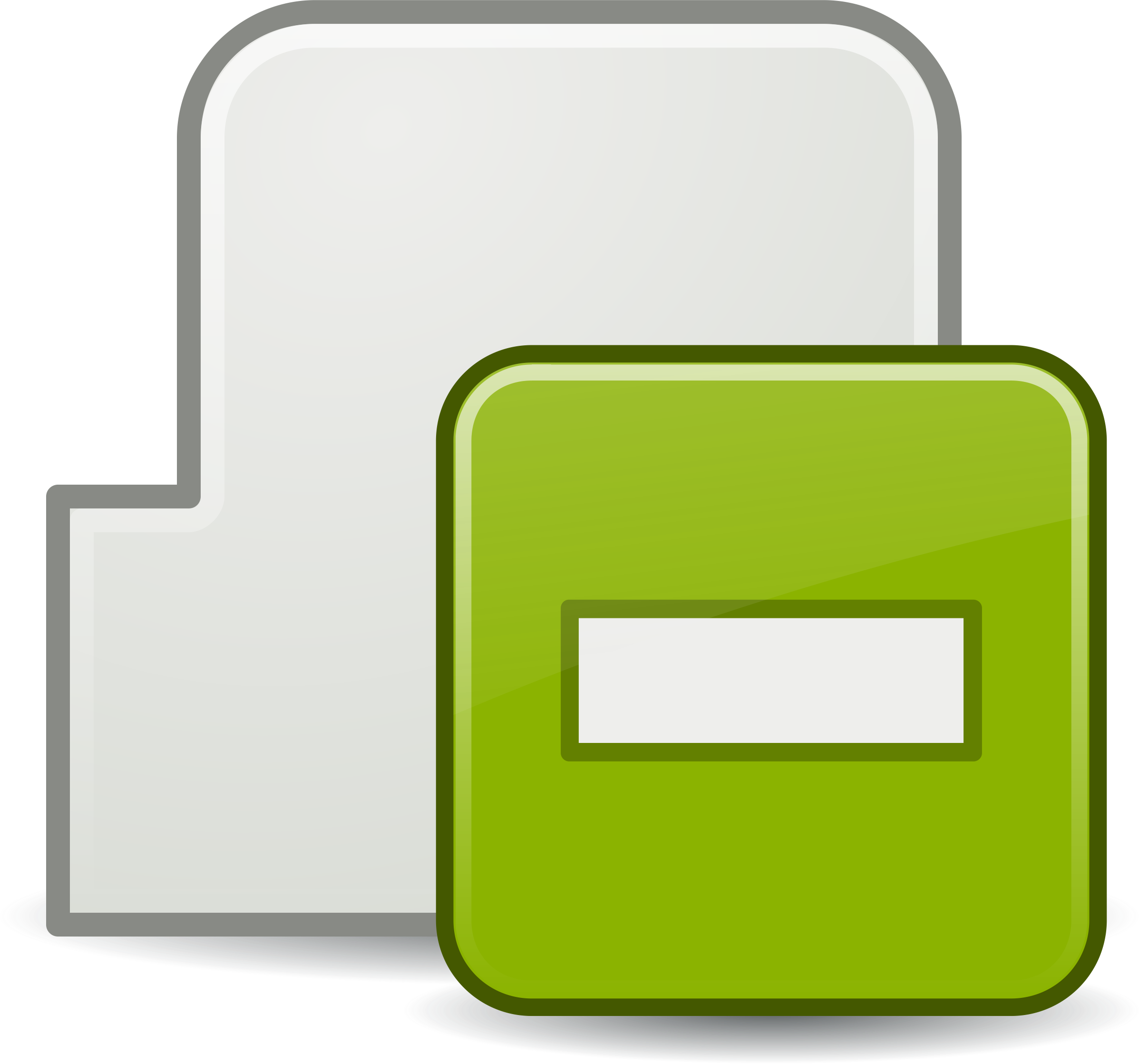Clipart   Subtract Tab Icon