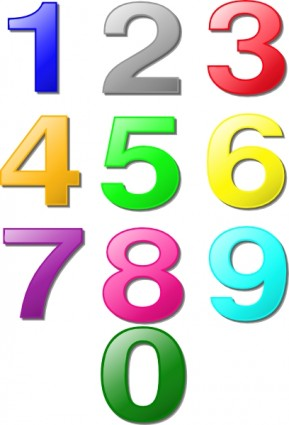 Colorful Numbers Clip Art Free Vector In Open Office Drawing Svg