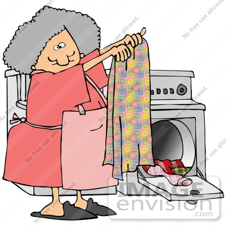 Doing Laundry Clipart