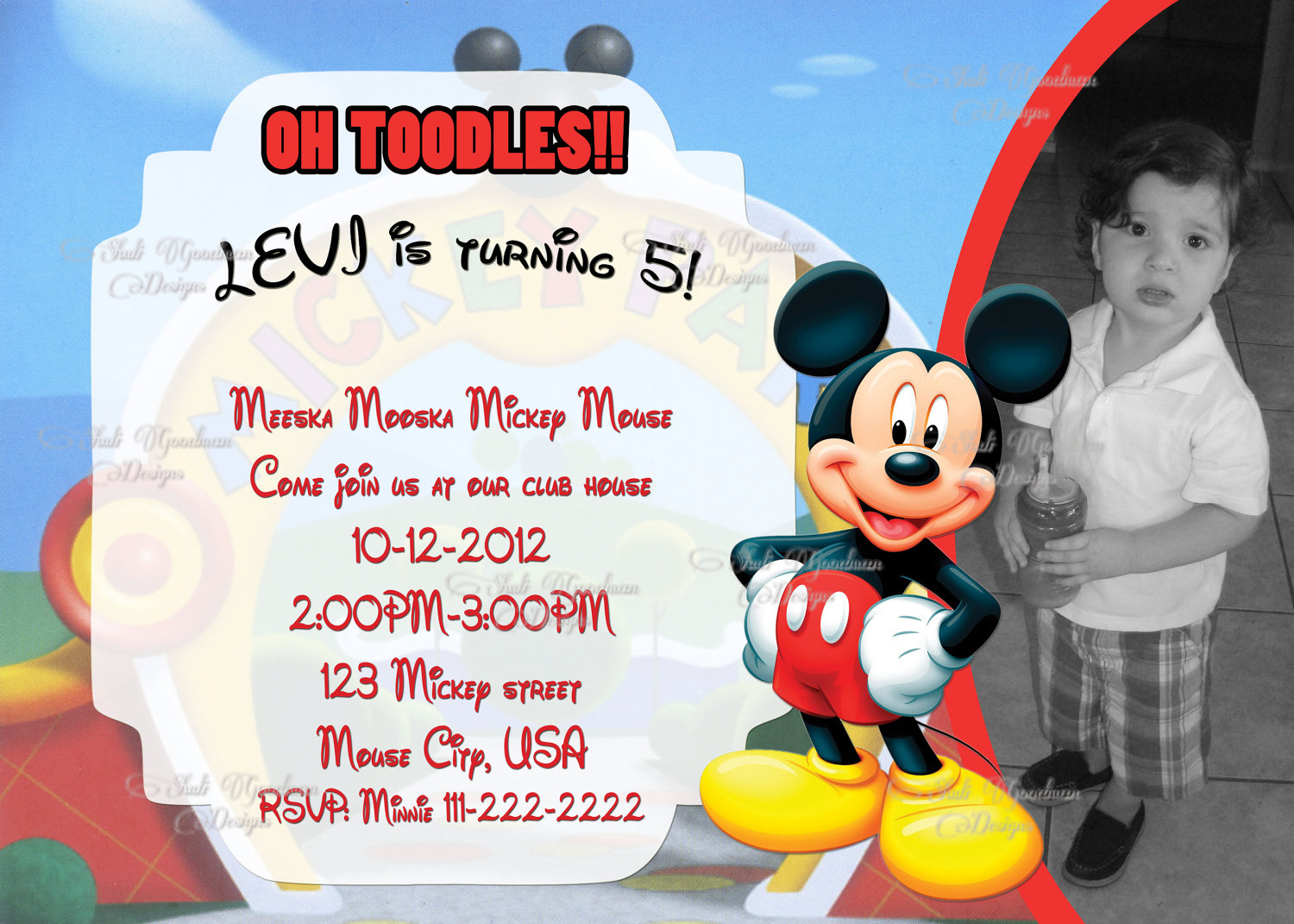 It is an image of Free Printable Mickey Mouse Birthday Invitations with regard to birthday card