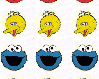 Fun Faces Ed Ible Icing Cupcake Decor Toppers Featuring Elmo Big ...