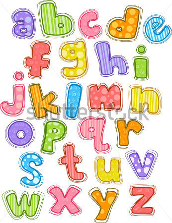 Illustration Of Cute And Colorful Alphabet In Lower Case
