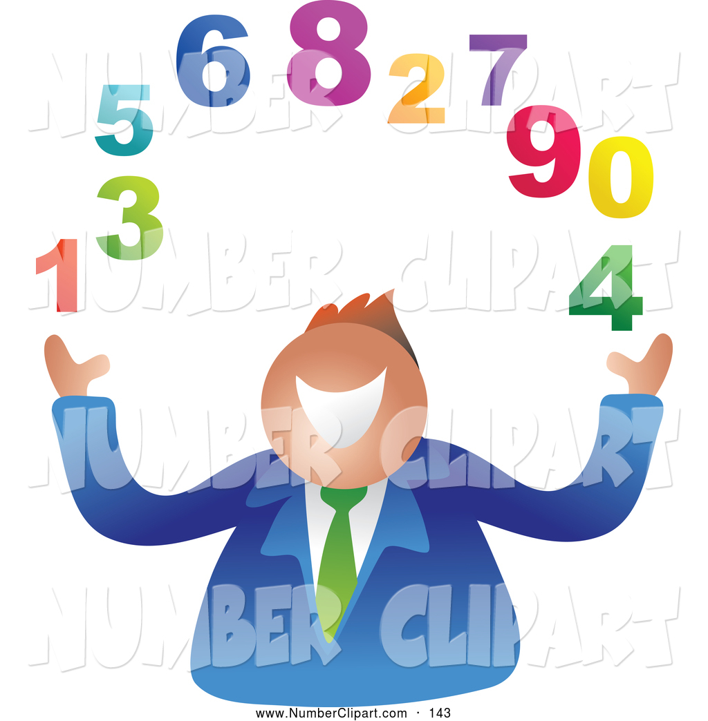 Juggling Colorful Numbers Blue Starry Number 2 3d Pink Burst Number